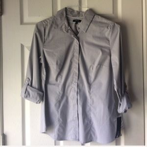 Blue grey button down